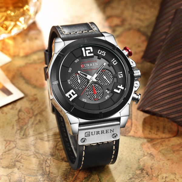 Relogio-masculino-CURREN-8287-Top-Marka-Chronograph-Quartz-zegarki-M-czy-ni-24-Godzina-Data-M